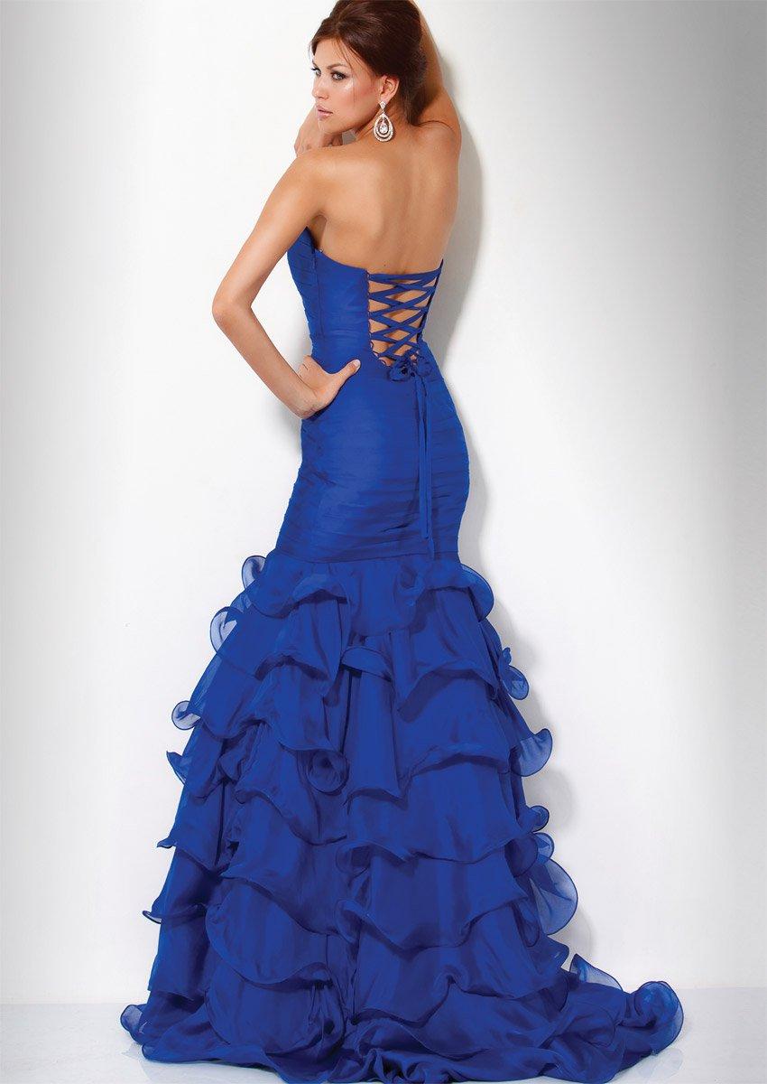 7971(J) suknia wieczorowa - Niebieskie/granatowe