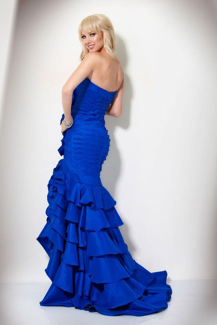71374(J) suknia wieczorowa - Niebieskie/granatowe