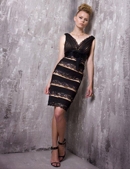 Czarno-złota sukienka 14191(J)