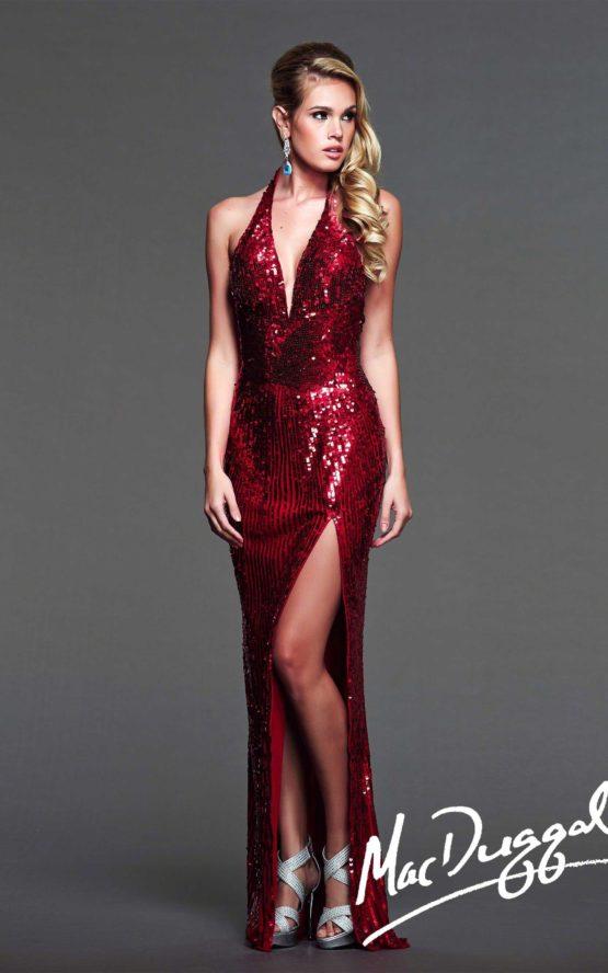 Suknia wieczorowa Mac Duggal 3987 red