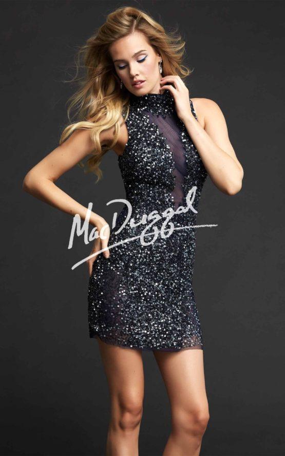 Suknia wieczorowa Mac Duggal 4038 platinum/gold