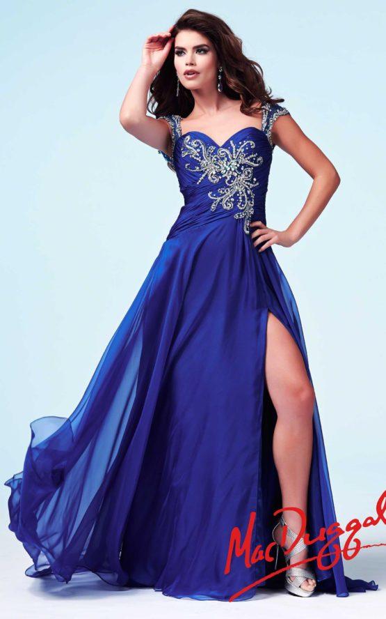 Suknia wieczorowa Mac Duggal 48119 royal