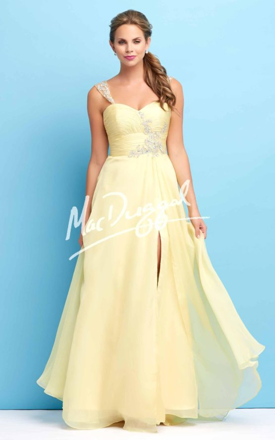 Suknia wieczorowa Mac Duggal 64420 lemon