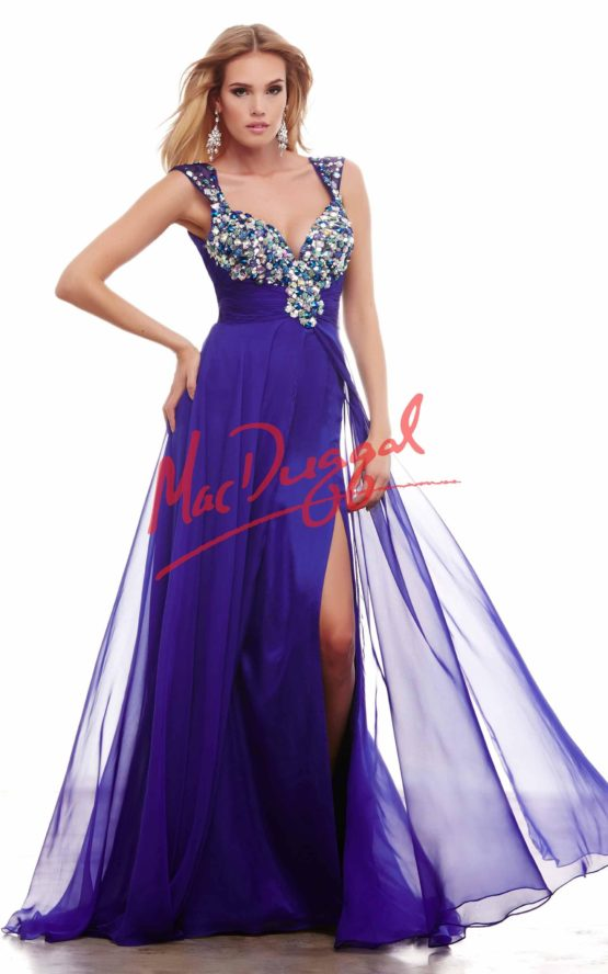 Suknia wieczorowa Mac Duggal 65018 royal purple