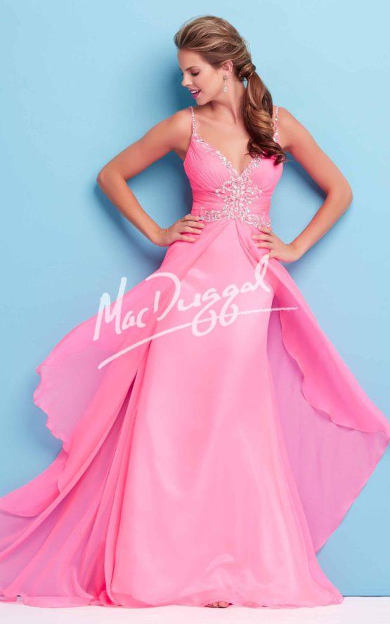 Suknia wieczorowa Mac Duggal 65101 pink