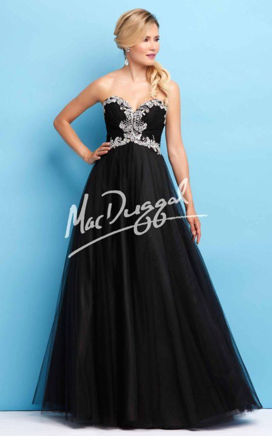 Suknia wieczorowa Mac Duggal 65104 black/silver