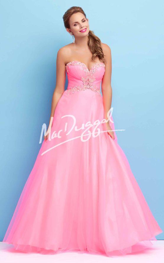 Suknia wieczorowa Mac Duggal 65104 candy pink