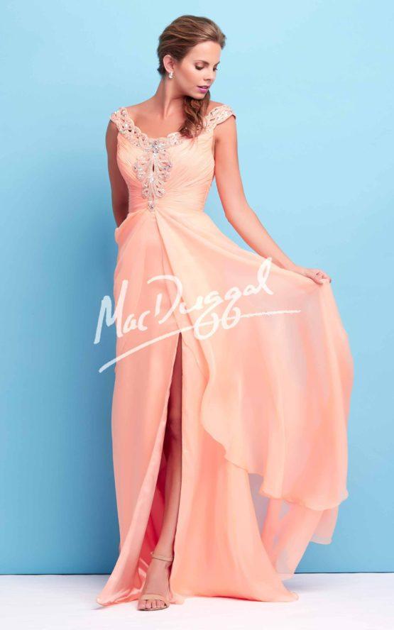 Suknia wieczorowa Mac Duggal 65106 peach