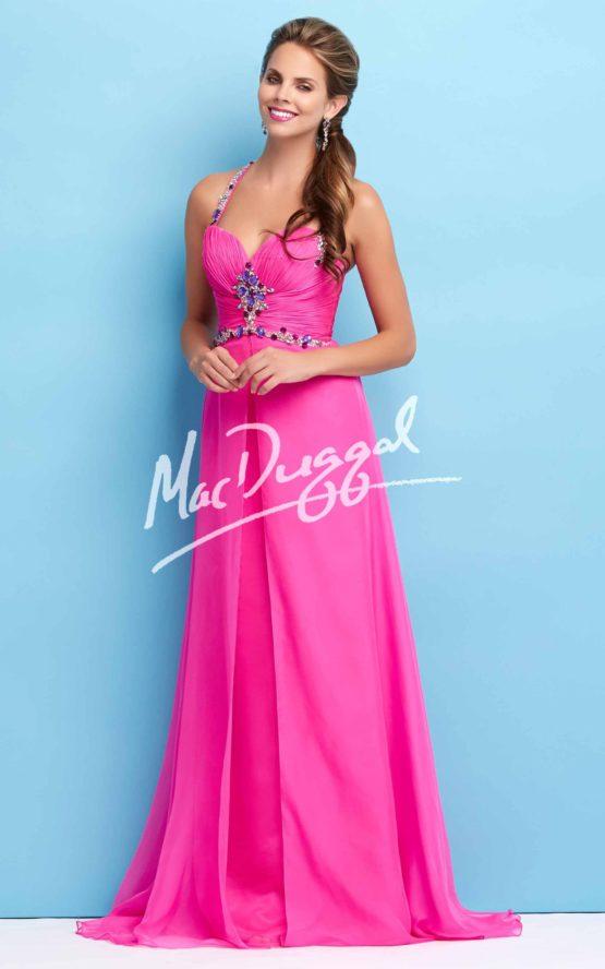Suknia wieczorowa Mac Duggal 65113 fuchsia
