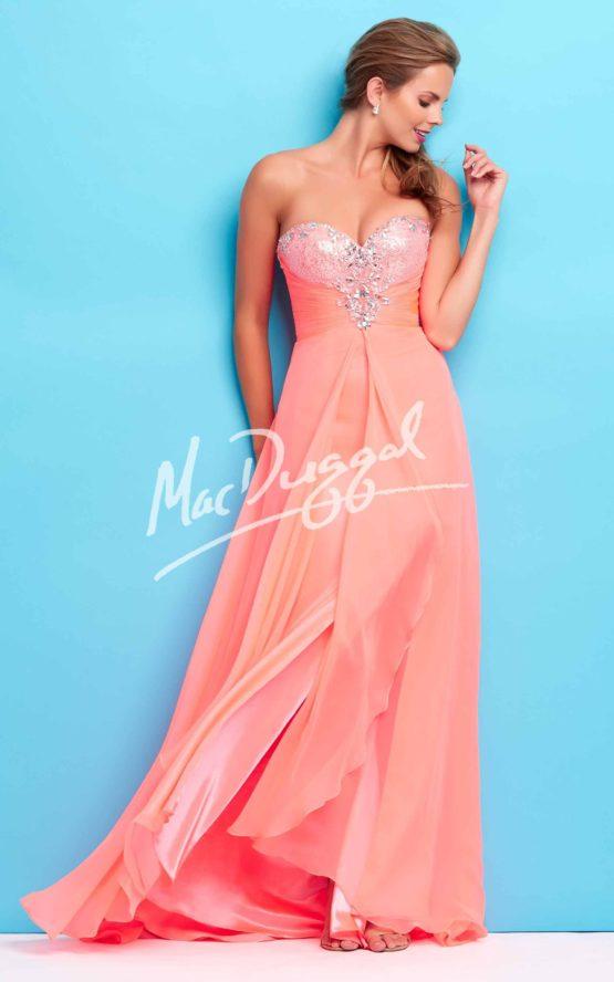 Suknia wieczorowa Mac Duggal 65116 coral