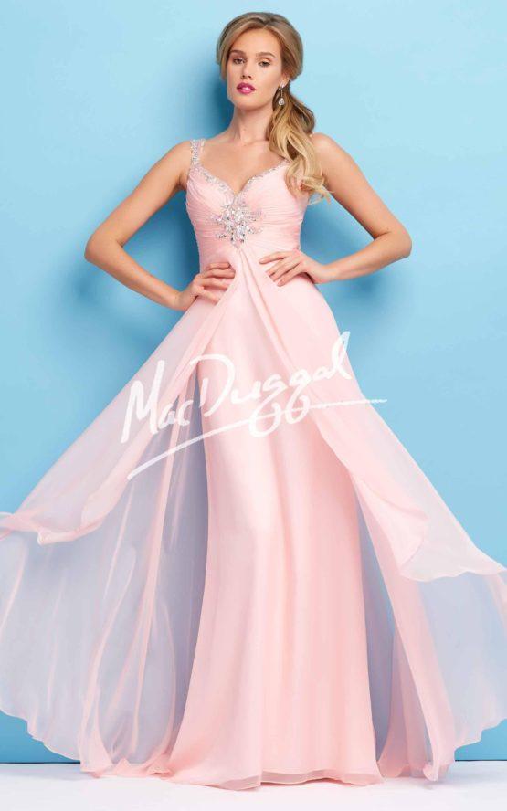 Suknia wieczorowa Mac Duggal 65119 blush