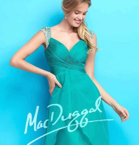 Suknia wieczorowa Mac Duggal 65122 teal