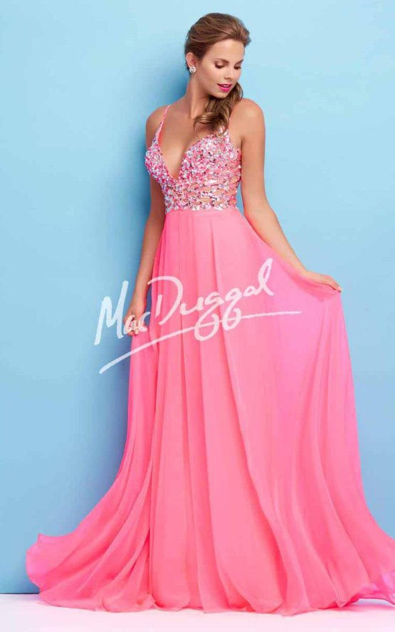 Suknia wieczorowa Mac Duggal 65026 pink