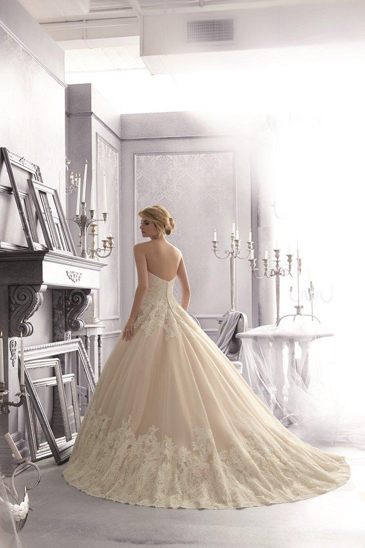 Suknia ślubna nude 2674 - Suknie ślubne