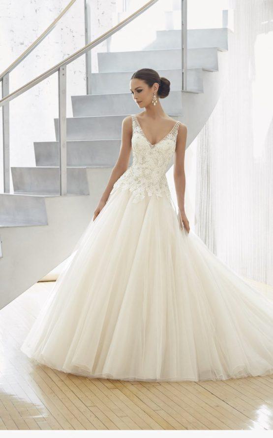 Suknia ślubna z baskinką 51130