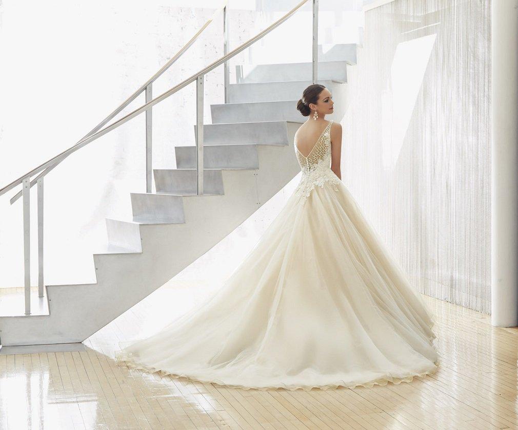 Suknia ślubna z baskinką 51130 - Suknie ślubne