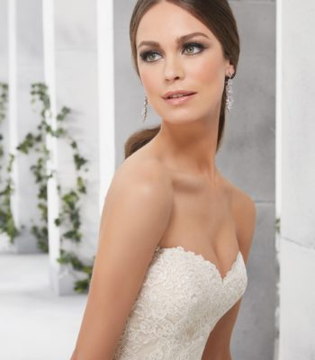 Suknia ślubna z falbanami 51219