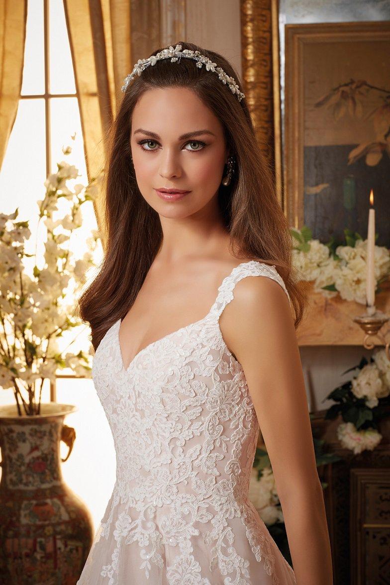 Taliowana suknia ślubna 5468 - Suknie ślubne