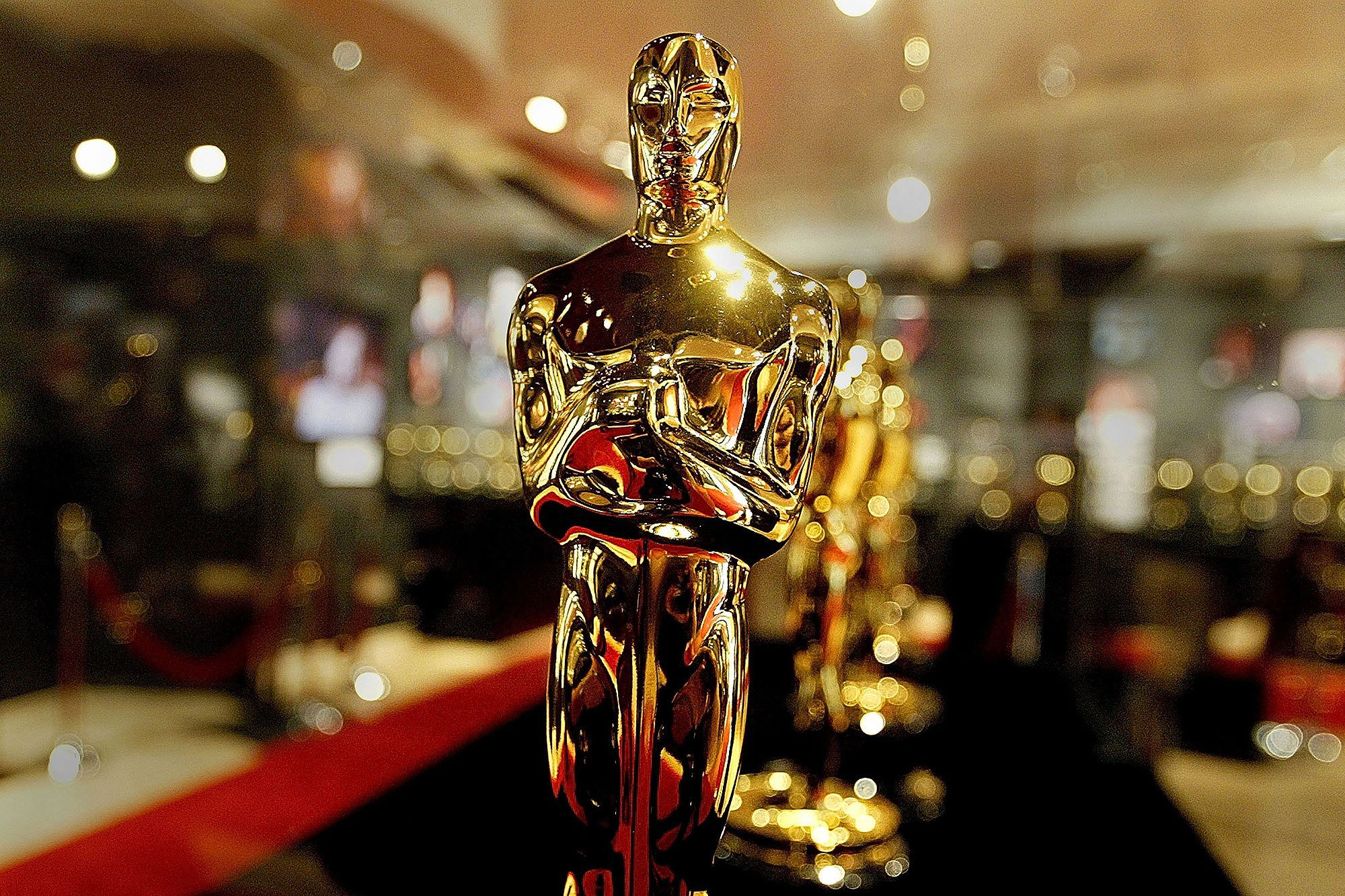 HOLLYWOOD - FEBRUARY 20:  A display case is seen full of Oscar statues February 20, 2004 in Hollywood, California. These are the Oscar statuettes that will be handed out on February 29 at the 76th Academy Awards ceremony and will be on display at the Hollywood & Highland entertainment complex.  (Photo by Carlo Allegri/Getty Images)
