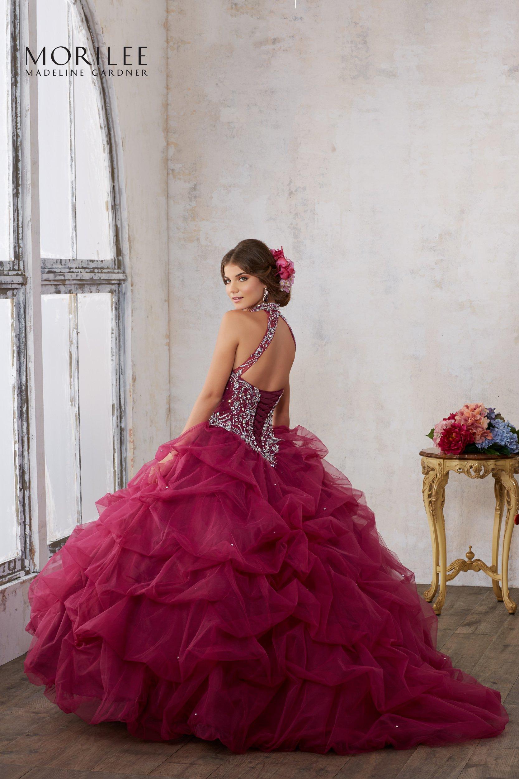 Suknia balowa Mori Lee 89122 - różowe/fioletowe