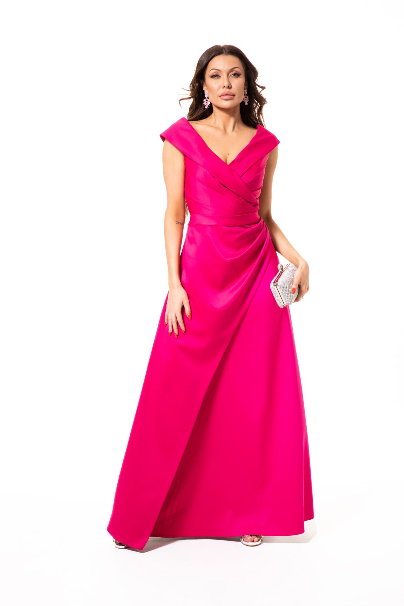 Suknia wieczorowa BOGNA - Różowe/fioletowe
