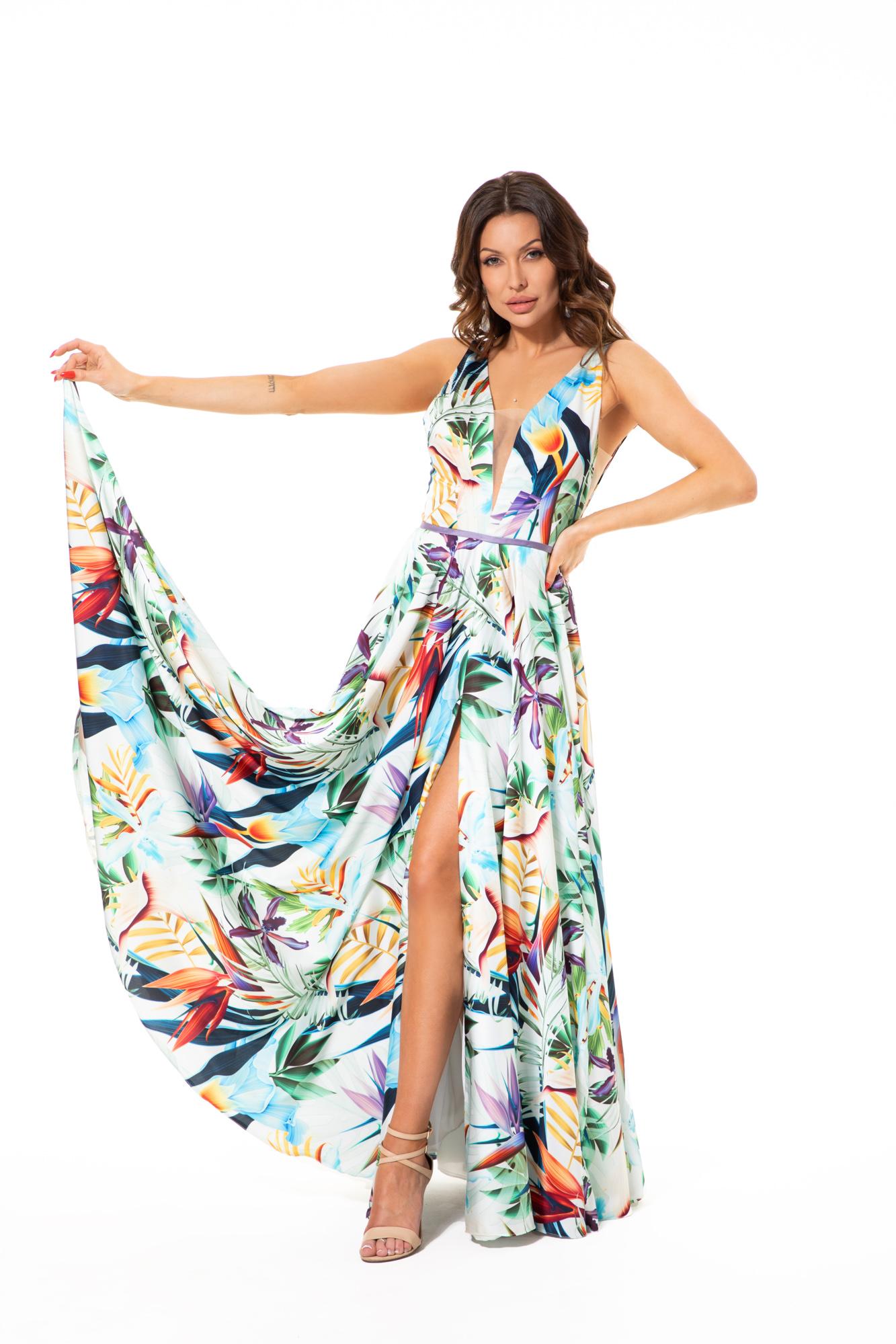 Suknia wieczorowa EGZOTYKA - kolorowe