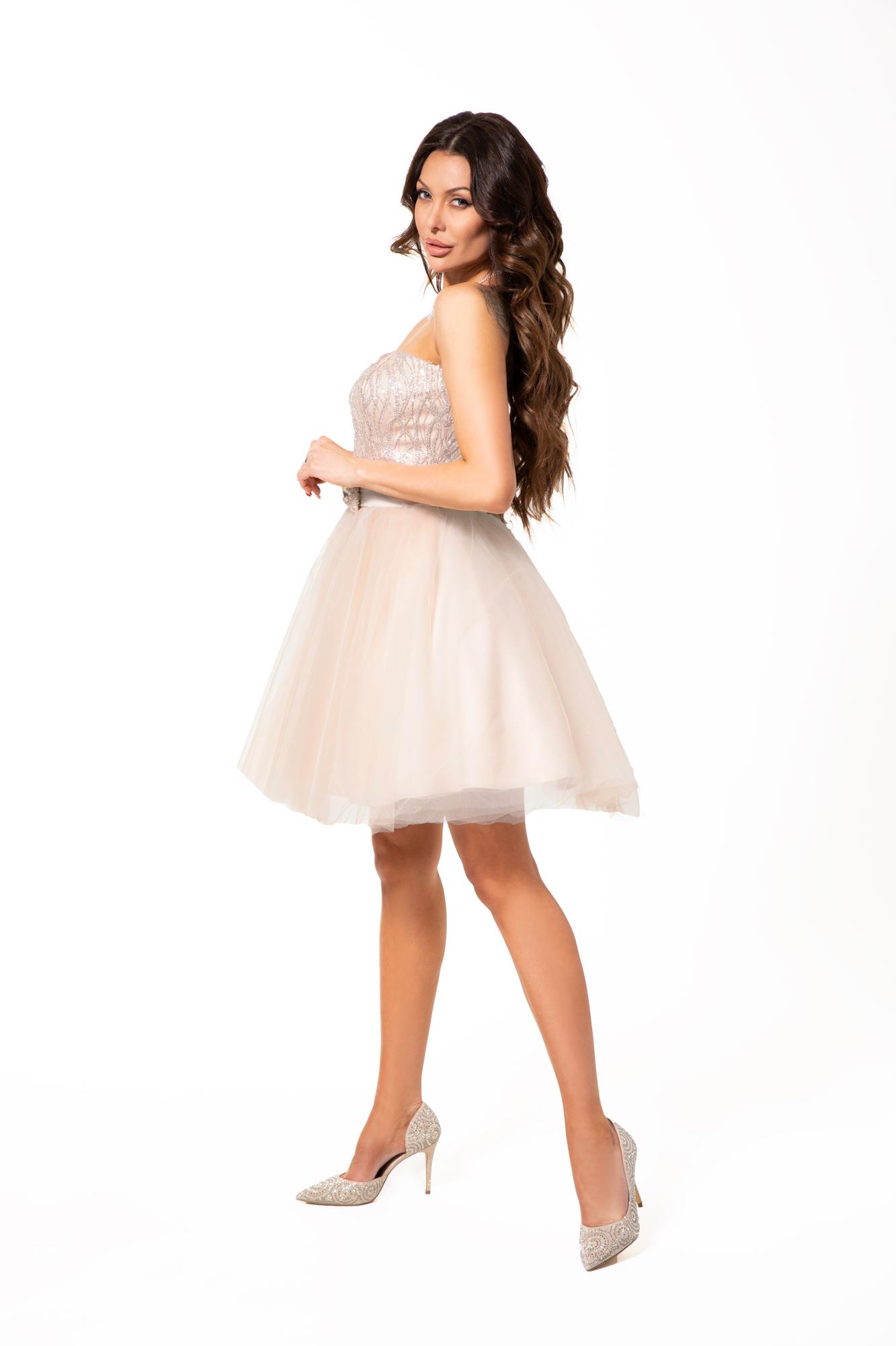 Suknia wieczorowa Izabella - Białe/beżowe
