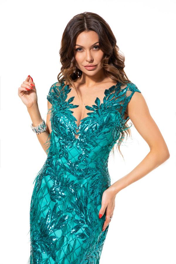 Suknia wieczorowa SZMARAGD - Suknie dla Druhen